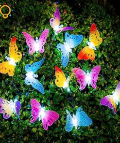 Solar Powered LED Butterfly Lights 01-The Gadget Gods
